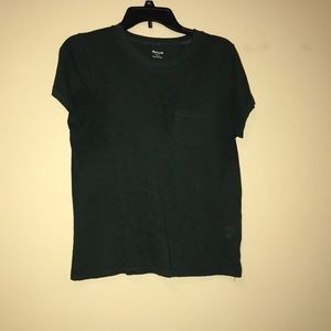 Madewell Whisper Tee Forest Green Small